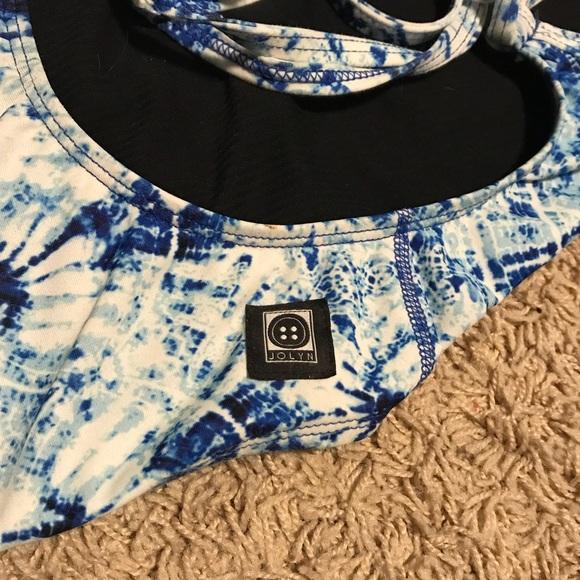 Jolyn Clothing Swim Jolyn Onesie Tie Back Blue White 26